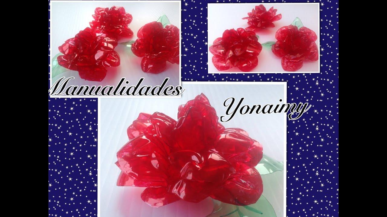 Rosas Hechas Con Botellas De Agua Recicladas Roses Made