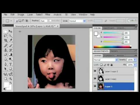 how to make a multilayer stencil without photoshop