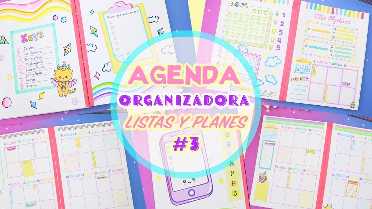 AGENDA - Bullet Journal - Listas y Planeadores - Planéate conmigo 🌈 | Manualidades aPasos