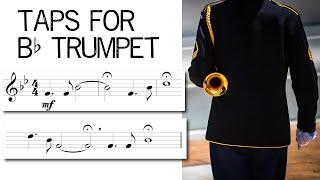 Download lagu Taps for Bb Trumpet   Free Sheet Music Download