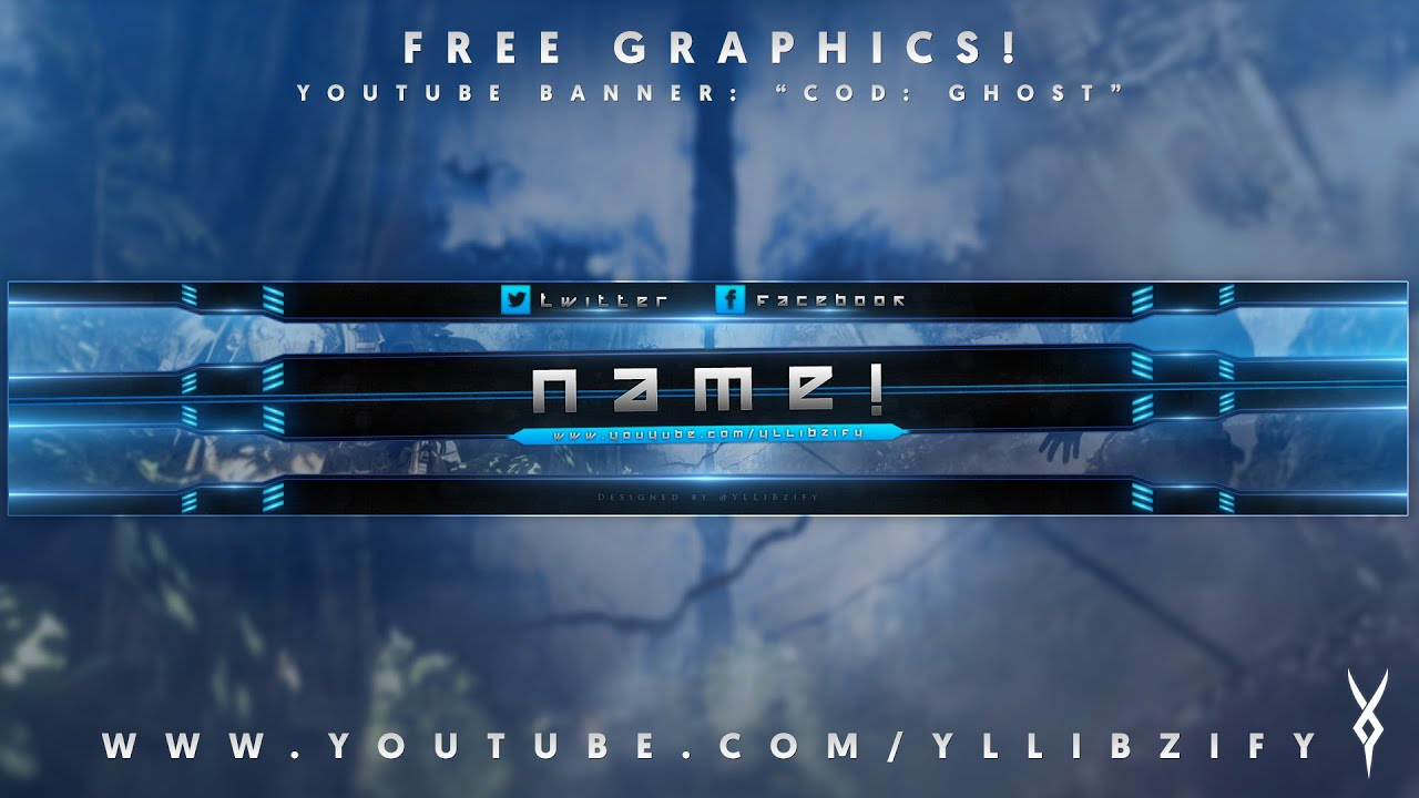 free graphics youtube banner template 2 call of duty ghost yllibzify. Black Bedroom Furniture Sets. Home Design Ideas