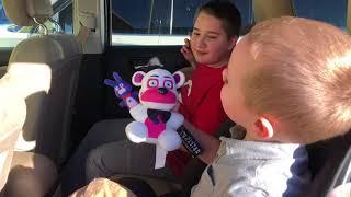 Fun Time Freddy plushie magically appears in Emoji Kids Car!!!