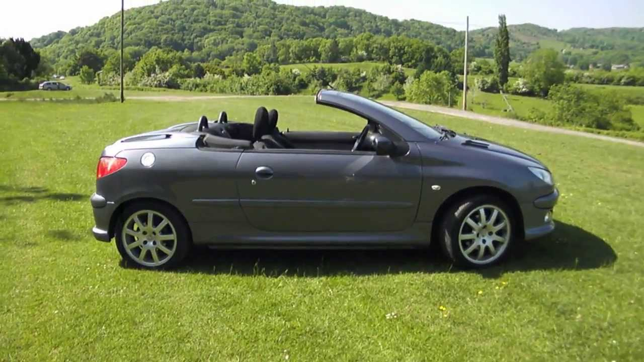 2005 55 peugeot 206 cc 1 6 convertible 65k miles fsh main dealer px youtube. Black Bedroom Furniture Sets. Home Design Ideas