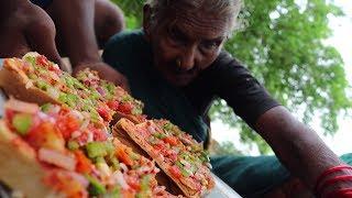 Desi Pizza Recipe | burst pizza no yeast oven | 100 Years Old Grandmas Pizza
