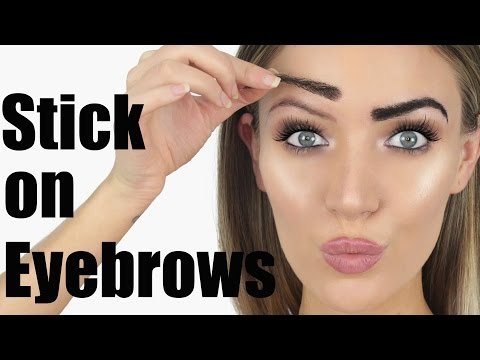 Trying STICK ON EYEBROWS?! | Stephanie Lange