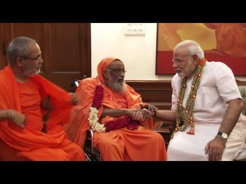 Founder of Arsha Vidya Gurukulam, Swami Dayananda Saraswati, calls on PM Modi