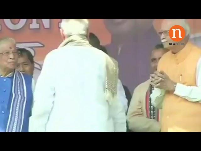 Tripura PM Modi Snubs LK Advani At Public Event Video Goes Viral