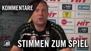 FortunaTV - Uwe Koschinat (Trainer SC Fortuna Köln) und Lars Bender (SC Fortuna Köln) - Stimmen