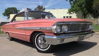 Samoan Coral 1964 Ford Galaxie 500 close up in 4K UHD