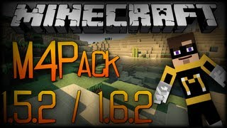 Minecraft : M4Pack /Texture pack para Hunger games e pvp ! 1.6.2/1.5.2