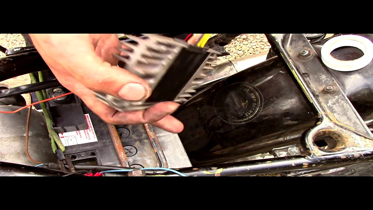small resolution of how to replace a bmw r100 r80 7 voltage regular and diode board youtube