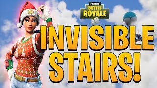 GAME BREAKING GLITCH! HOW TO BUILD INVISIBLE STAIRS! | Fortnite (PC, XBOX, PS4)