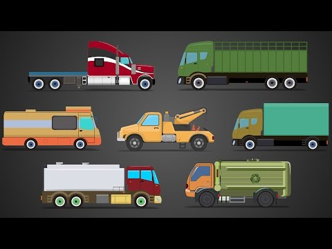 Trucks | Types Of Trucks | Cars And Trucks Videos For Childrens