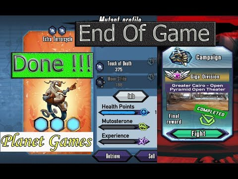 Mutants: Genetic Gladiators ||| Finish the game and get the latest prizes