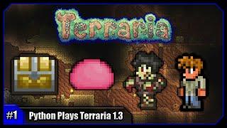 Python Plays Terraria || A Fresh Start! Pinky & Sandstone Houses! || Terraria 1.3 PC Let's Play [#1]