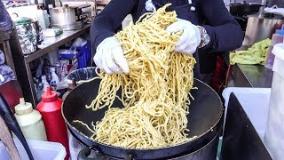 Cooking Three Types of Asian Noodles. London Street Food. London Bridge