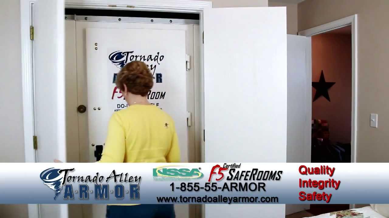 Tornado Shelter Installs In Closet Tornado Alley Armor Safe Rooms