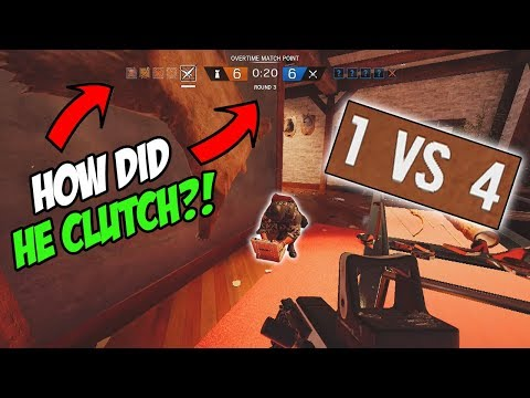 My Best Clutch EVER! *MUST SEE* - Rainbow Six Siege