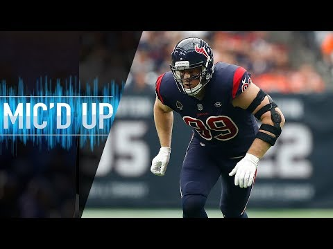 """J.J. Watt Mic'd Up vs. Browns """"Hey, when did you learn how to catch?""""   NFL Films"""