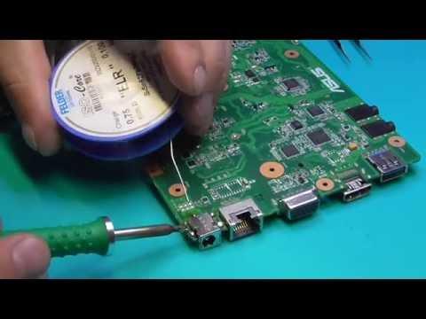 Как заменить гнездо зарядки на ноутбуке