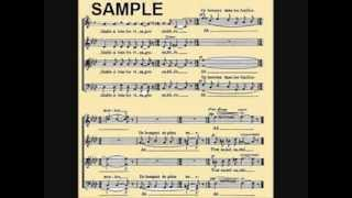 Poulenc, Sept chansons, 5.Belle et ressemblante, Cantoria Sine Nomine