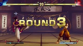 STREET FIGHTER V Juri vs Ibuki