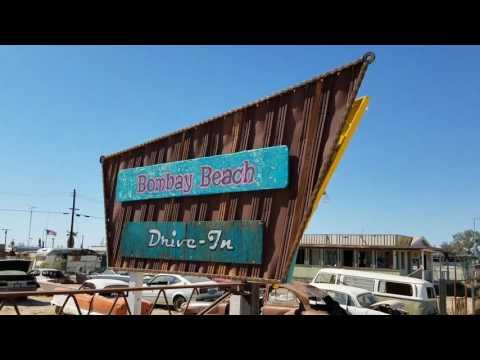 Bombay Beach Drive-in Theater. Salton Sea desert weirdness.