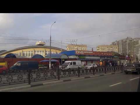 . Подольск. Поездка на автобусе по городу (Московская область)