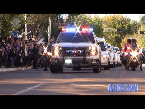 Albuquerque Police Officer Daniel Webster Final Dispatch and Funeral Procession Part I - ABQ RAW