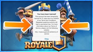 Clash Royale - WAYS TO GET BANNED! HOW TO AVOID GETTING A BAN!
