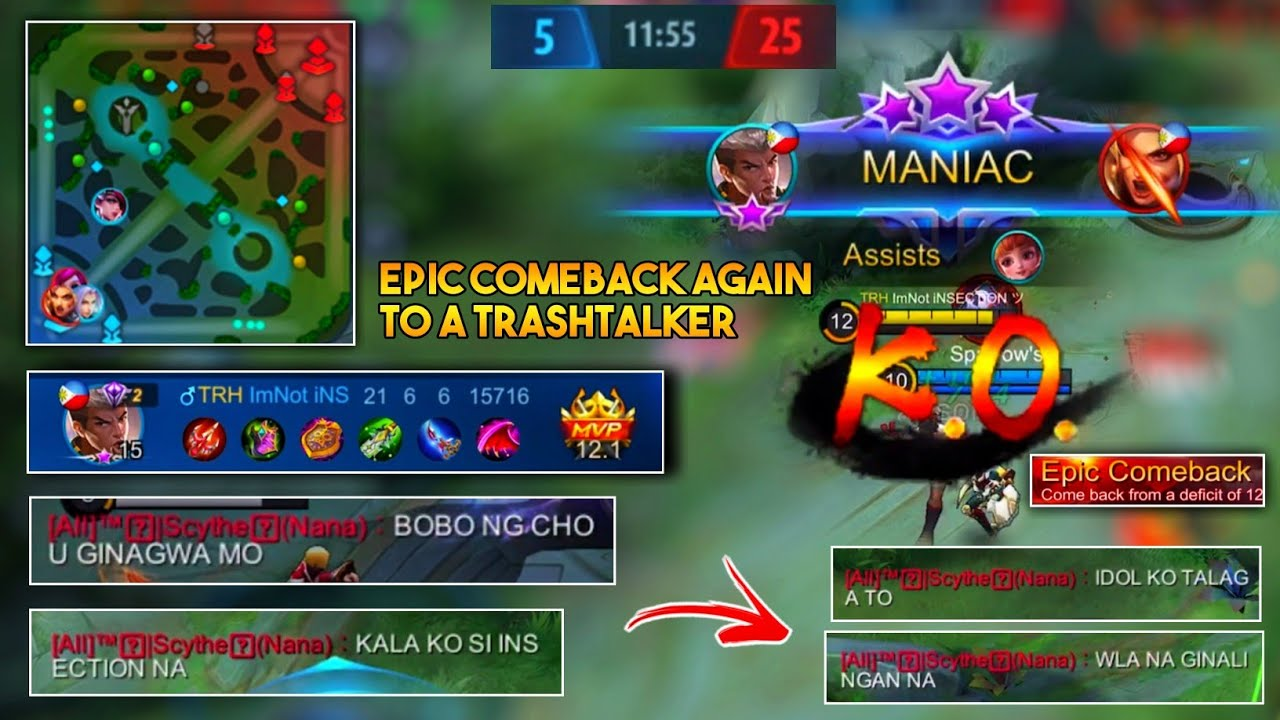 Another Trashtalker Has Been Destroyed! | From Hater to Fan | Epic Comeback Chou Gameplay