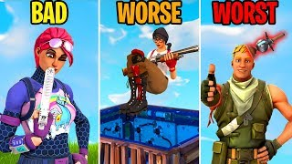 Bad, WoRsE, WORST! The WORST Players EVER! Fortnite Funny Moments