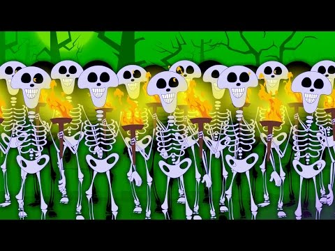 Skeletons March   Scary Nursery Rhymes For Children   halloween song video