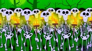 Skeletons March | Scary Nursery Rhymes For Children | halloween song video