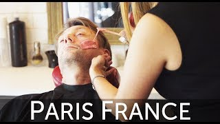 Grizzly Barber Shop Beard Waxing Experience in Paris, France
