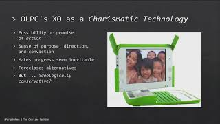 Live stream: The Charisma Machine: The Life, Death, and Legacy of One Laptop per Child