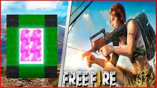 COMO FAZER UM PORTAL PARA O MUNDO DO FREE FIRE - Minecraft