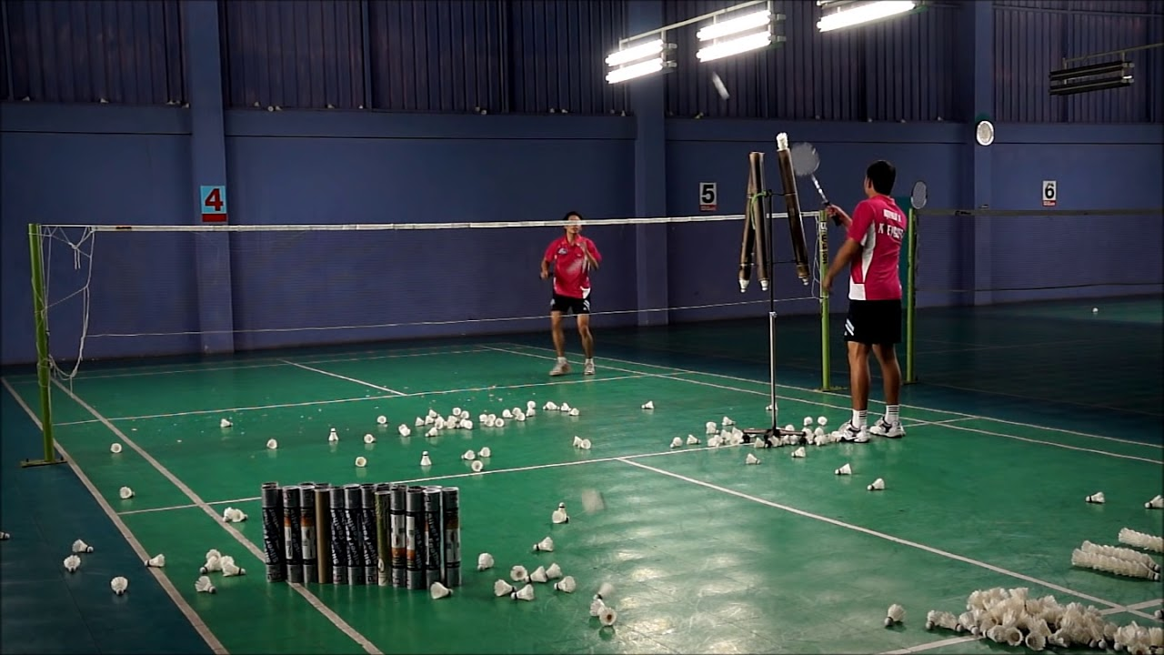 Cross smash practice HD การฝึกตบทแยง - Badminton training - YouTube