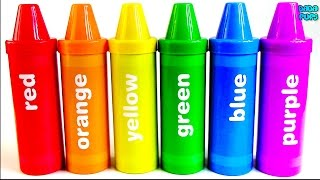 Learn Colours with Pencil Surprises and Toys|Learning  Colors with Crayons Sorting Surprises| Toys