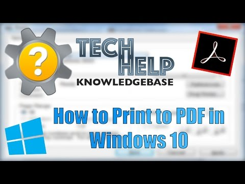 How To Print To PDF In Windows 10