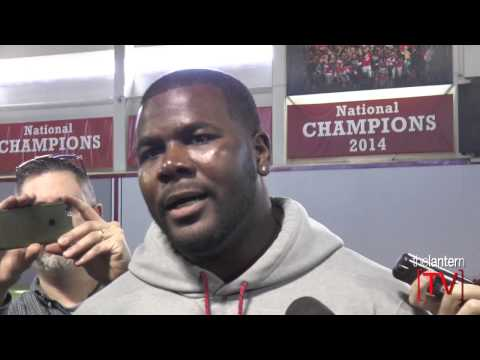 Buffalo Bills QB Cardale Jones speaks at 2017 Ohio State Pro Day