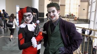 Awesome JOKER and HARLEY QUINN Cosplayers at Anime Boston 2014