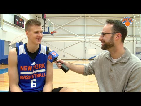 1-on-1 with Kristaps Porzingis: Reflecting On November, Meeting Celebs, and NBA Trash Talk