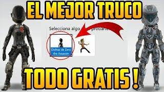 TRUCO PARA OBTENER ACCESORIOS GRATIS ! AVATAR XBOX ONE 2018