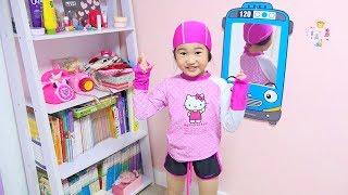 마법의 타요 거울속으로!! 렛츠런파크에서 신나게 놀아요~ Boram Pretend Play with Magic Mirror Collection Videos for Kids