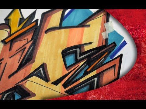 GRAFFITI SKETCH - ONE TAKE !