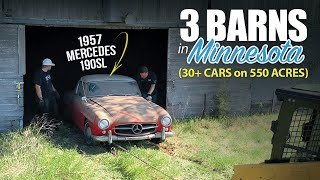 30+ CAR BARN FIND: 550 Acres in MINNESOTA