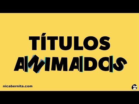 TÍTULOS ANIMADOS PARA VÍDEO🎬 APLICACIONES PARA CREAR INTROS Y TEXTOS ANIMADOS (Android)