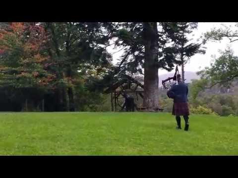 "Scottish bagpipe "" Highland Wedding "", GlenFinnan church baptism ending"
