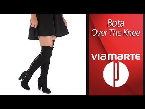 b3c382647 Bota Over The Knee Feminina Via Marte - 6010445412 - YouTube